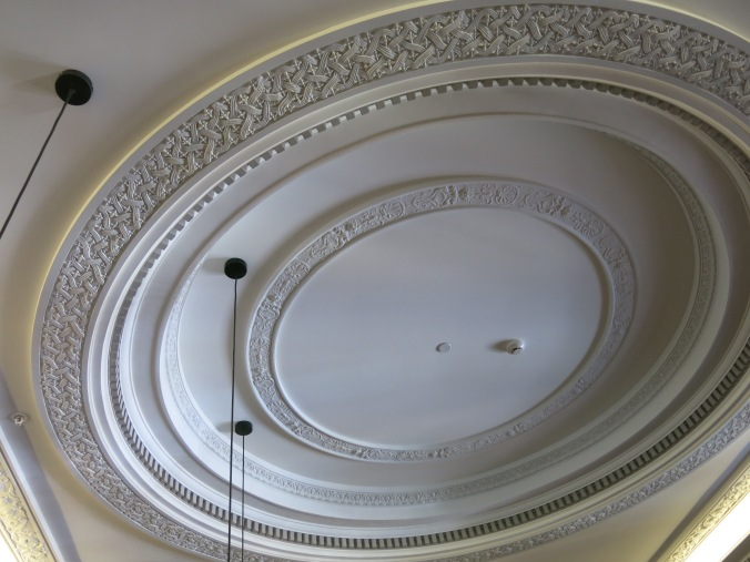 The roof of the Isaac Theatre Royal 2nd floor foyer